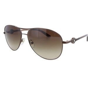 VERSACE Brown Gradient Aviator Sunglasses
